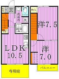 Sunny Seas.S 〜サニーシーズ・エス〜[2階]の間取り