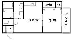 太田ハイツ3[201号室]の間取り