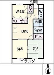 パレスグリーミーII[2階]の間取り