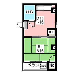 Tコーポ[4階]の間取り