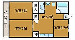 メゾン稲荷坂[3階]の間取り