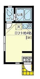 ユナイト南太田レオン・ブルジョア[1階]の間取り