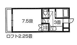コーポリバーサイド[1階]の間取り
