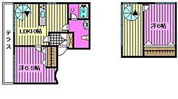 LAPUTAIIIラプタIII[1階]の間取り