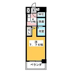ArtizA東別院[4階]の間取り