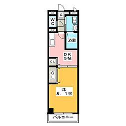 ポラールシュテルン[2階]の間取り