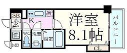 Luxe新大阪SOUTH 2階1Kの間取り