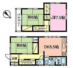 [一戸建] 千葉県市川市大野町4丁目 の賃貸【/】の間取り