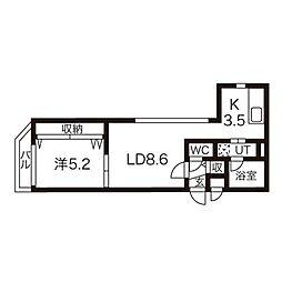 アンコール札幌[3階]の間取り