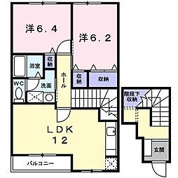 マーヴェラス21[2階]の間取り