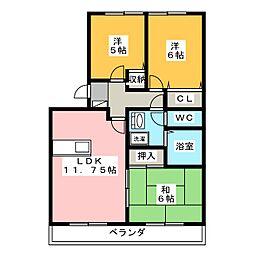 エスポワール今泉[1階]の間取り