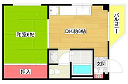 合田ハイツ[3階]の間取り