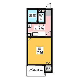 フラワーパレス[1階]の間取り