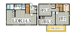 [一戸建] 千葉県柏市大室 の賃貸【/】の間取り