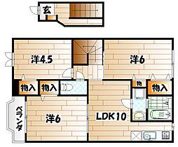 プランタンコートII[2階]の間取り
