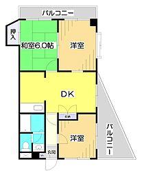 埼玉県志木市本町6丁目の賃貸マンションの間取り