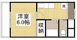 居倉マンション[3階]の間取り