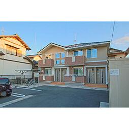 岡山県赤磐市上市の賃貸アパートの外観