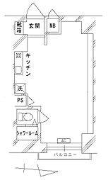 稲毛第一パレス[5階]の間取り
