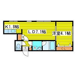 北海道札幌市東区北七条東6丁目の賃貸マンションの間取り