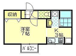 クローネ仁井田[102号室]の間取り