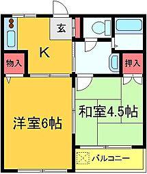 東綾瀬コーポ[2階]の間取り