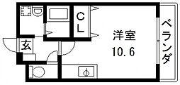 メルベーユ高井田[402号室号室]の間取り