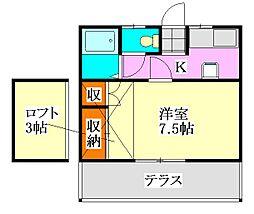 poko'sハウス[102号室]の間取り