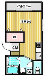 第一粉浜コーポ[1階]の間取り