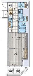 ファーストフィオーレ東梅田 11階1DKの間取り