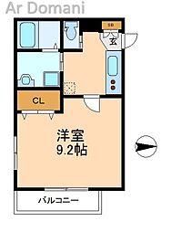 クレサージュ新松戸[1階]の間取り