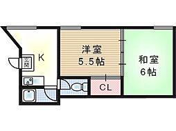 第2オグラマンション[3階]の間取り