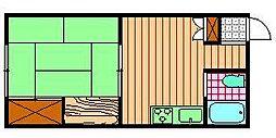 宮崎県小林市大字真方の賃貸アパートの間取り