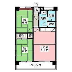 曽我マンション[2階]の間取り