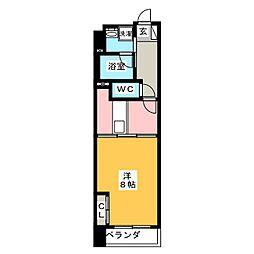 POWERHOUSE the residence 10階1DKの間取り