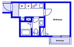 (仮称)ベイルーム藤沢本町2-1号棟 1階1Kの間取り