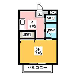 ハイツTao[1階]の間取り