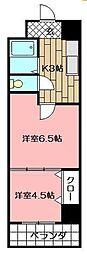 アリビオ南小倉[306号室]の間取り