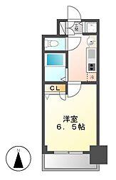 プレサンス名古屋STATIONアブソリュート[10階]の間取り