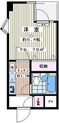神奈川県川崎市多摩区宿河原5丁目の賃貸マンションの間取り