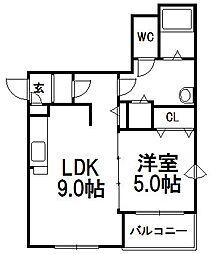 カーム19[1階]の間取り