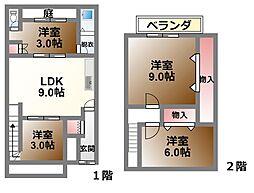 [一戸建] 滋賀県大津市島の関 の賃貸【/】の間取り
