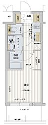 Osaka Metro千日前線 野田阪神駅 徒歩8分の賃貸マンション 5階1Kの間取り