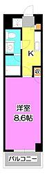 ソレイユ鶴瀬[4階]の間取り