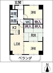 マ・メゾン代官[8階]の間取り