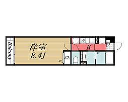 千葉都市モノレール 穴川駅 徒歩6分の賃貸アパート 1階1Kの間取り