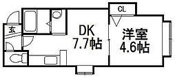 北海道札幌市白石区菊水二条2の賃貸アパートの間取り