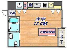エス・キュート魚崎[204号室]の間取り