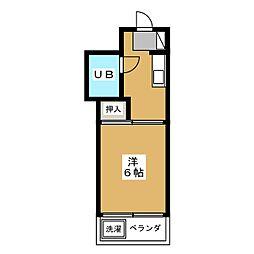 第5七福ビル[4階]の間取り