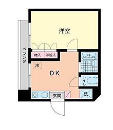 東京都大田区羽田6丁目の賃貸マンションの間取り